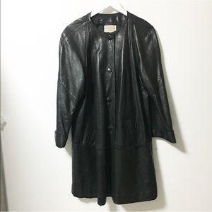 Vintage / A line leather jacket